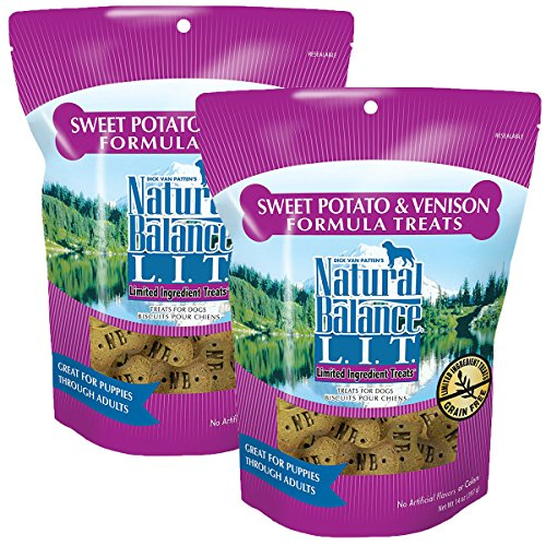 Natural Balance L.I.T. Limited Ingredient Treats Sweet Potato & Venison - 14-ounce (Pack of 2) by Natural Balance
