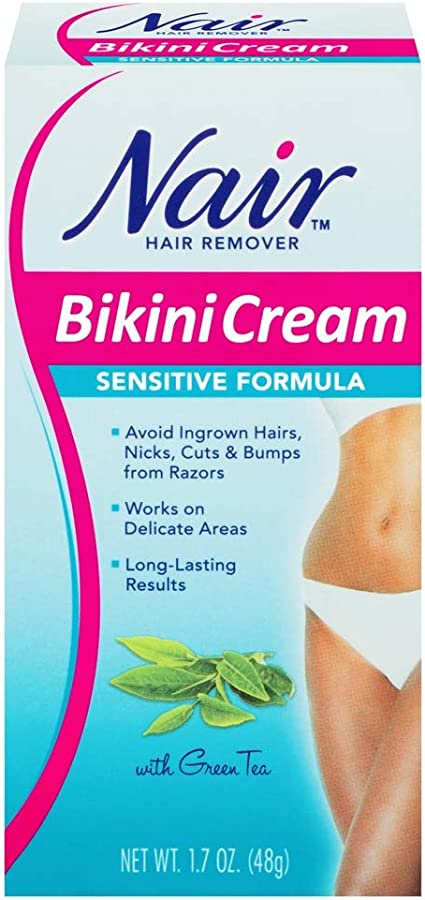 Amazon Com Nair Hair Remover Bikini Cream Sensitive Formula With