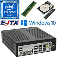 E-ITX ITX350 Asrock H270M-ITX-AC Intel Celeron G3930 (Kaby Lake) Mini-ITX System , 4GB DDR4, 480GB M.2 SSD, 2TB HDD, WiFi, Bluetooth, Window 10 Pro Installed & Configured by E-ITX