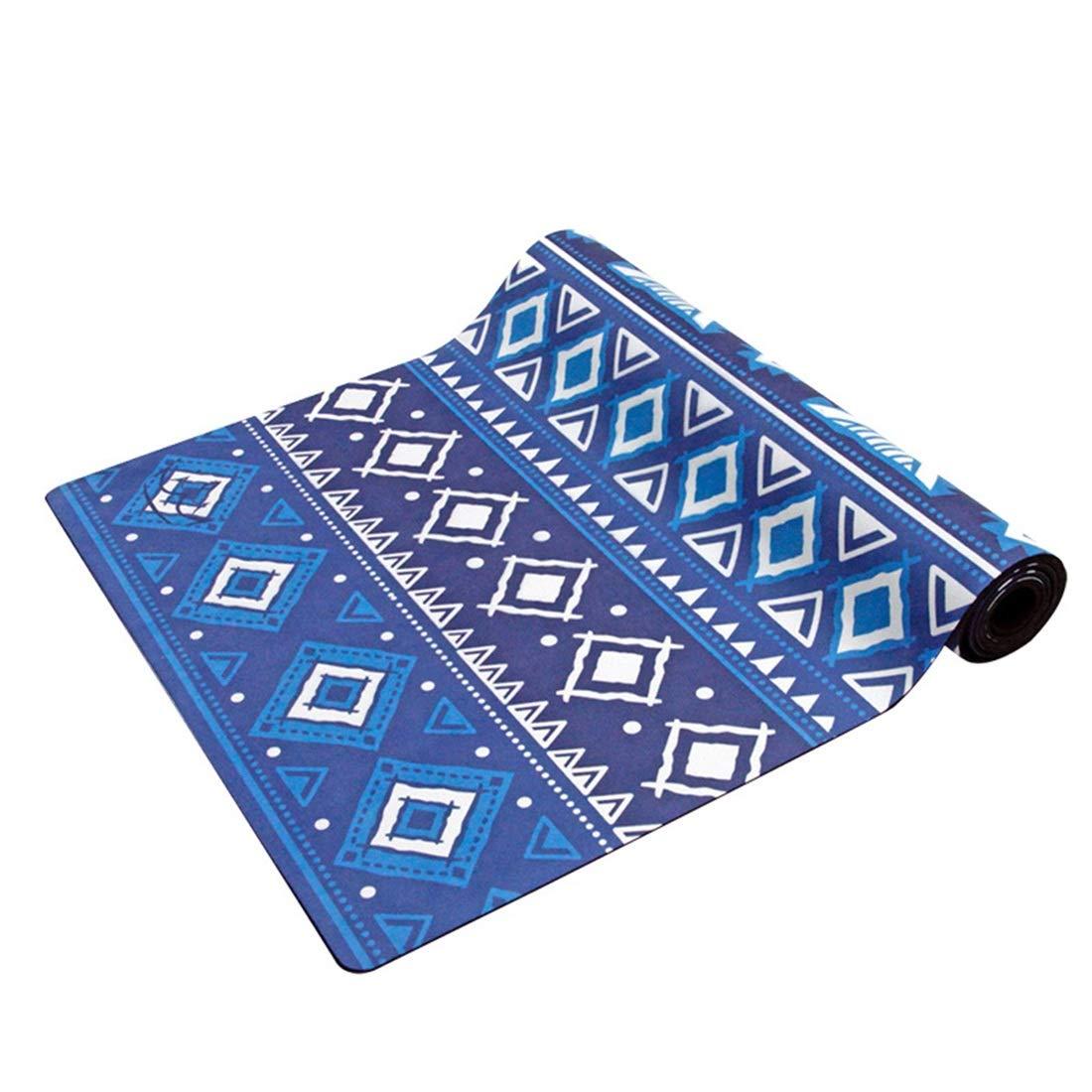 AROTOVL Yogamatte Rubber0.35mm Umweltfreundliche köstliche Fitnessmatte Yogamatte für Fitnessstudio mit Tragen (Farbe   Blau)