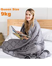 jaymag Weighted Blanket Adult - Sensory Weighted Blanket Heavy Blanket Anti-Anxiety Blanket for Better Sleep, Reduce Stress, Calm Anxiety, Support Autism - Grey