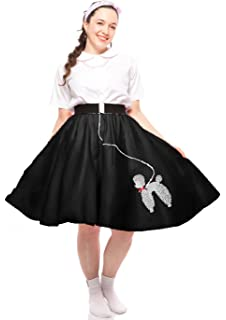e63ec9f20479 50s Felt Poodle Skirt in Retro Colors - size Teen/Adult Small