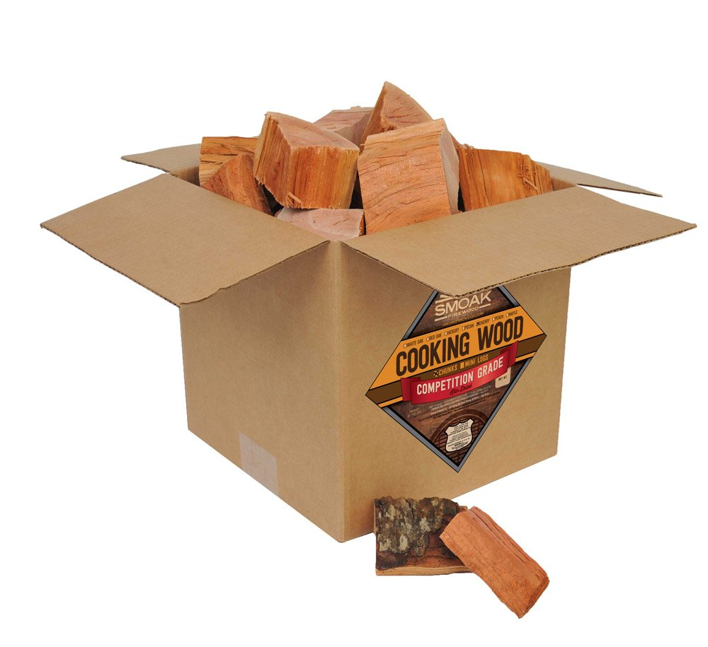 Smoak Firewood Cooking Wood Chunks - USDA Certified Kiln Dried (Cherry, 25-30 lbs)