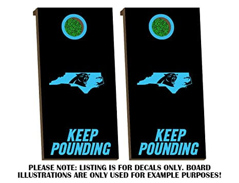 Amazon Com Carolina Panthers Keep Pounding Cornhole Board Decals