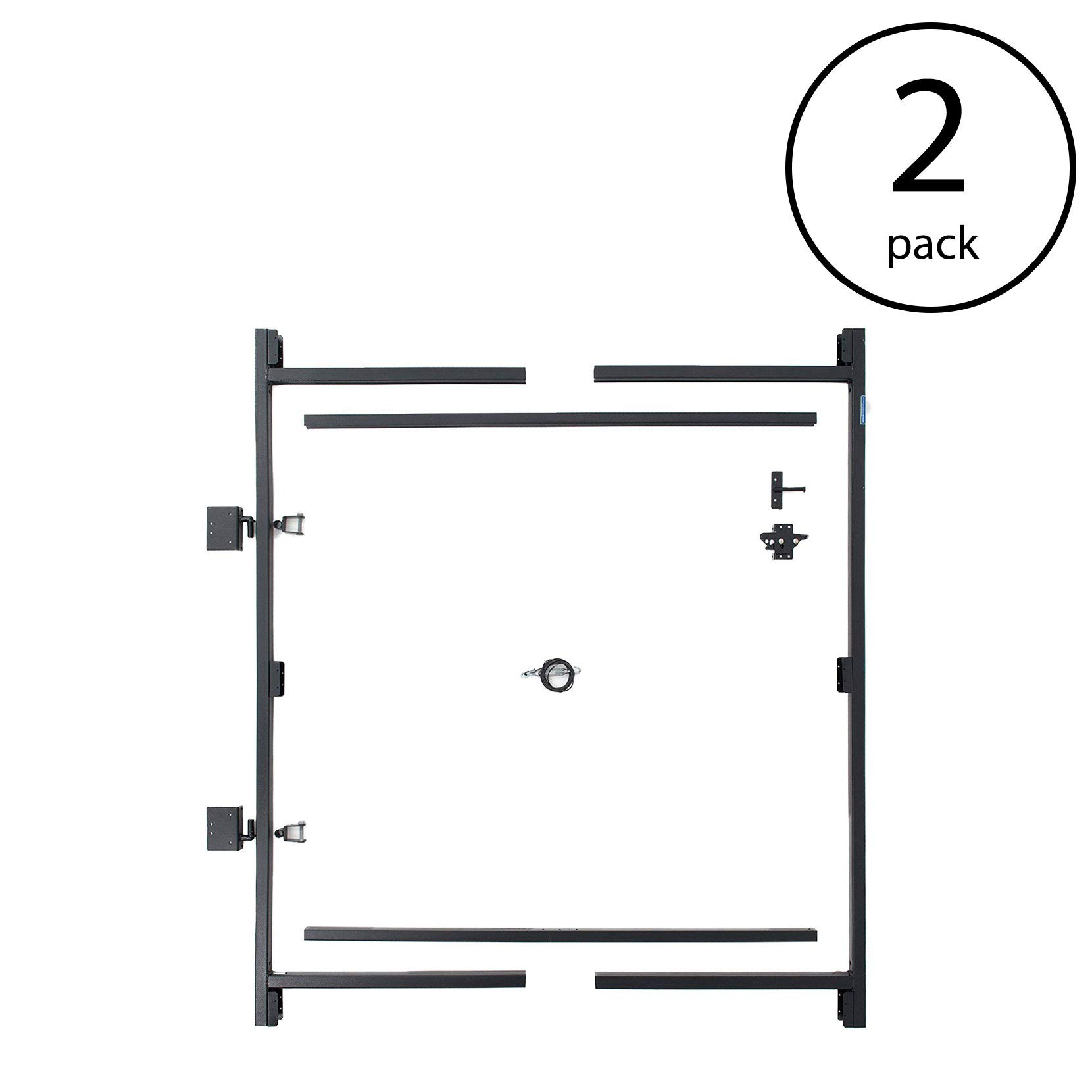 Adjust-A-Gate Steel Frame Gate Building Kit, 60''-96'' Wide, 6' High (2 Pack)