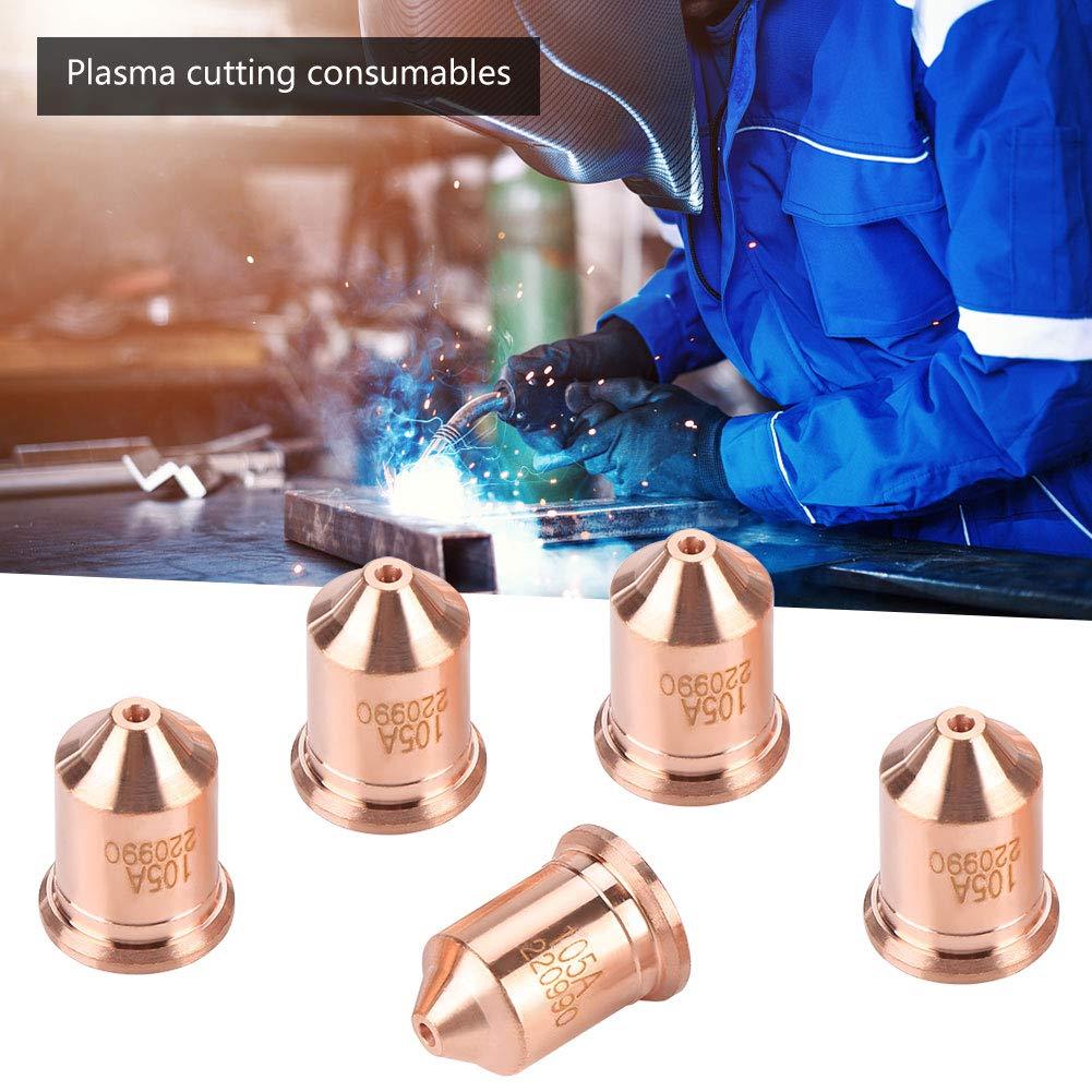Akozon 5pcs Plasma Tip Buse 220990 Coupage Plasma de Torche Consommables pour Machine de D/écoupe MAX65