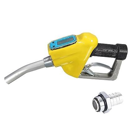 MagiDeal Combustible Gasolina Aceite Entrega Transferencia Herramienta Boquilla Dispensador Medidor De Flujo