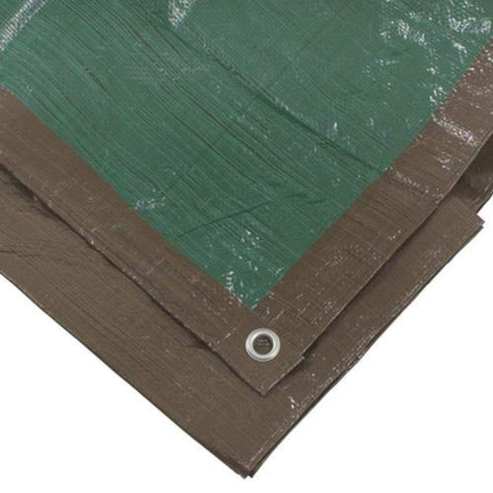 Erickson 57031 8 x 10 Reversible Brown//Green Mid-Grade Poly Tarp 8 x 10 8/' x 10/' EK57031