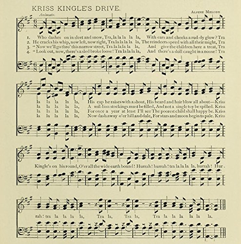 Kriss Kingles Drive Christmas in Song 1891 Poster Print (18 x 24)