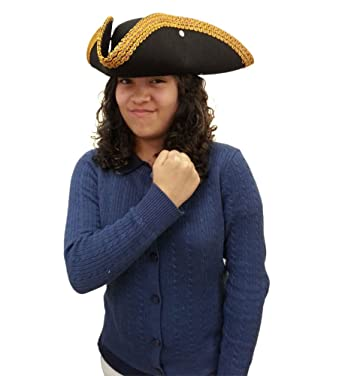 3ded63b3ec7 Colonial Style Tricorn Hat - Revolutionary War Deluxe Colonial Tricorn Hat   Amazon.ca  Toys   Games