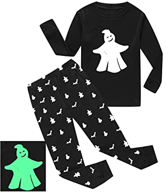 dolphinfish boys halloween pajamas ghost glow in the dark toddler sleepwear kids clothes