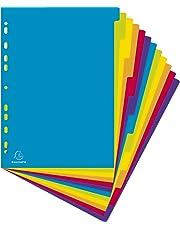 Exacompta Campus PP Dividers, A4 maxi, 12 part - Multi-coloured
