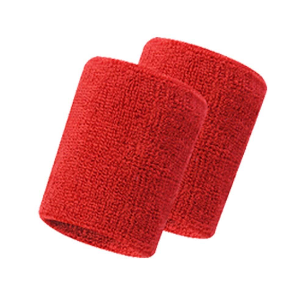 Tianya 2Pcs Unisex Sports Cotton Sweat-Absorbent Wristband Wrist Band