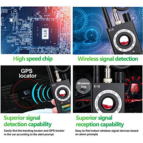 Anti Spy Camera Detector, RF Bug Detector, BQYPOWER Wireless Signal Pinhole Laser Lens GSM Detector Ultra-high Sensitivity Full-Range Tracker Finder