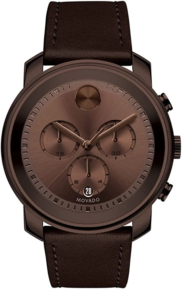 Movado Bold Reloj de hombre marrón Ion placa 3600420–Reloj cronógrafo