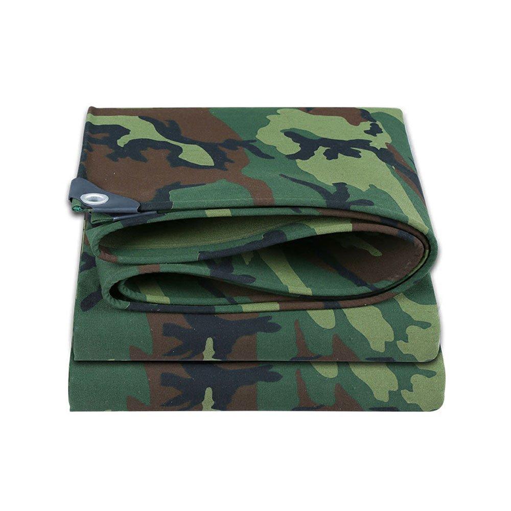 Camo vert 47m Tarpaulin HUO BÂche Multi-usages, BÂche Imperméable De Camouflage D'armée pour Camper La Pêche De Chasse (Couleur   Camo vert, Taille   2  2m)