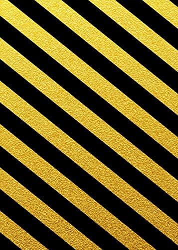 MME 5x7Ft Yellow Black Stripe Backdrop Ban Logo Backdrop Prohibit Background Props Video Studio Photo -