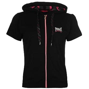 Everlast - Sudadera con cremallera y capucha de manga corta para mujer negro sudadera con capucha chaqueta Top Ropa deportiva, negro, small: Amazon.es: ...