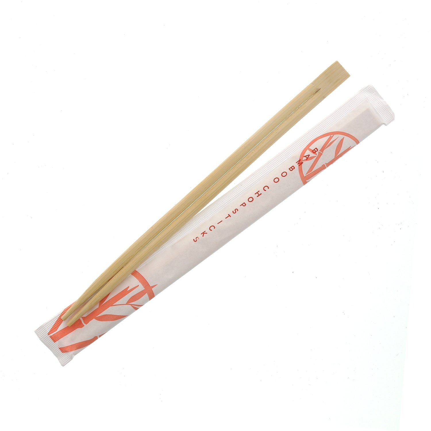 Royal Premium Disposable Bamboo Chopsticks in Sleeves, 9'', Connected at the Top, UV Treated, Bag of 100