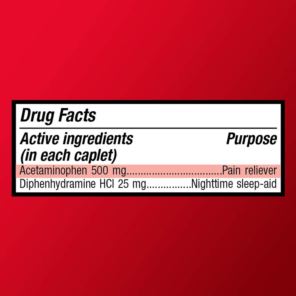 Basic Care Extra Strength Acetaminophen PM Caplets, 100 Count by Basic Care (Image #8)
