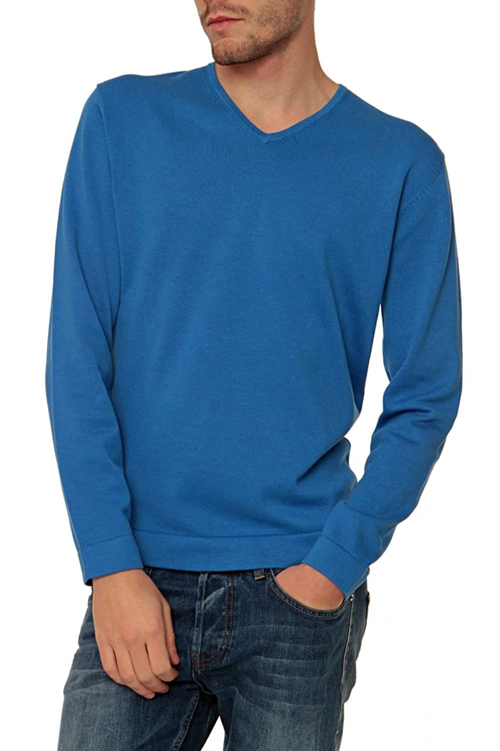 Colours&Sons V-Neck Pullover , Color: Blue