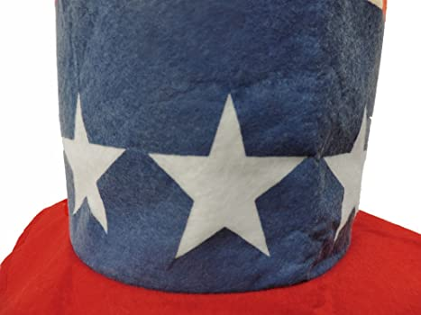 Amazon.com  Red White and Blue Stovepipe Top Hat  Clothing 3c5b279e7af