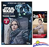 #3: 2017 Topps Star Wars Rogue One Series 2 EXCLUSIVE Factory Sealed Retail Box with 10 Packs & VERY SPECIAL PATCH Card! Plus SPECIAL BONUS of Topps Star Wars The Force Awakens Foil Pack! WOWZZER!