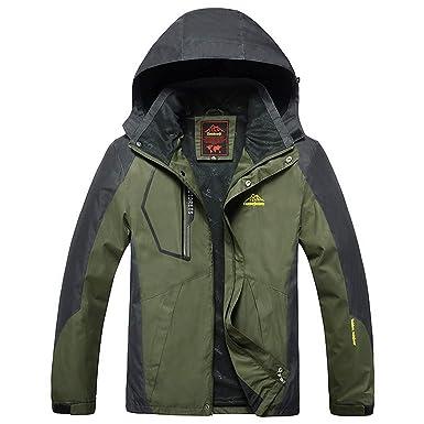 Two-Piece Men s Mountain Waterproof Ski Jacket Outdoor Windproof Snow Jacke 8ed408d23