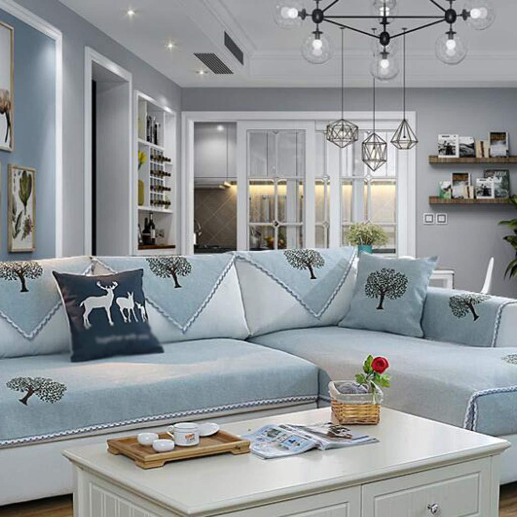 Cojines para espalderas y sillas Sofá cojín cojín de Estera de cojín Yoga algodón sofá cojín Cuatro Estaciones Universal Antideslizante sofá en casa Cubierta Toalla Sala de Estar cojín Cubierta Completa 0c6250