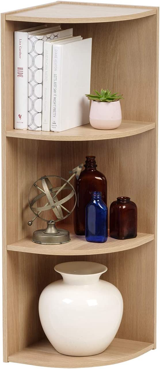 IRIS USA FBA_ 3-Tier Corner Curved Shelf Organizer