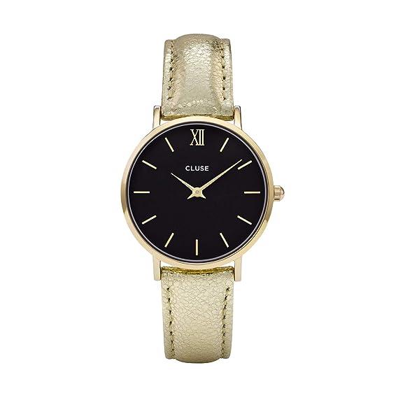 Cluse Reloj Analógico para Mujer de Cuarzo con Correa en Cuero CL30037: Cluse: Amazon.es: Relojes