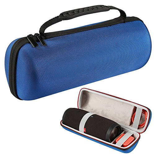 LuckyNV Charge 3 Case,Waterproof Storage Portable Hard Case for JBL Charge 3 Bluetooth Wireless Speaker & USB Cable and Charger Blue