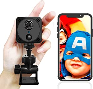 4K Mini Spy Camera with Audio and Video, hidden camera with app,mini spy camera, Long Battery Life,Remote View,Night Vision,Motion Detection, Portable hidden camera for home,Car,Office,Exclude TF Card