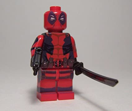 Amazon.com: LEGO Custom Printed DEADPOOL Suit Minifigure: Toys & Games