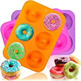 HEHALI 3pcs Donut Pan Mold, Silicone Cake Bagel Baking Doughnuts Mold,Tray Measures 10x7 Inches
