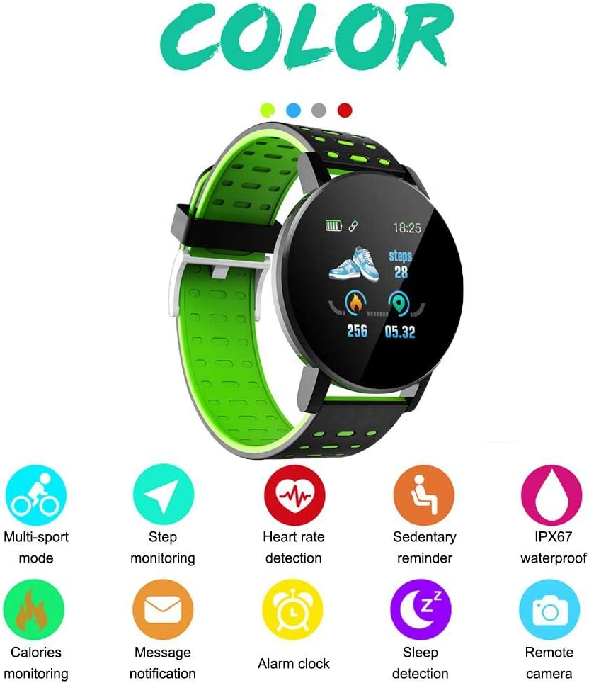 Dedeka Reloj Inteligente con Pantalla táctil de Alta definición IP67 Impermeable Reloj Deportivo Multideporte con Pulsómetro,Monitor de Sueño,Podómetro,GPS,Reloj para Hombres Mujeres
