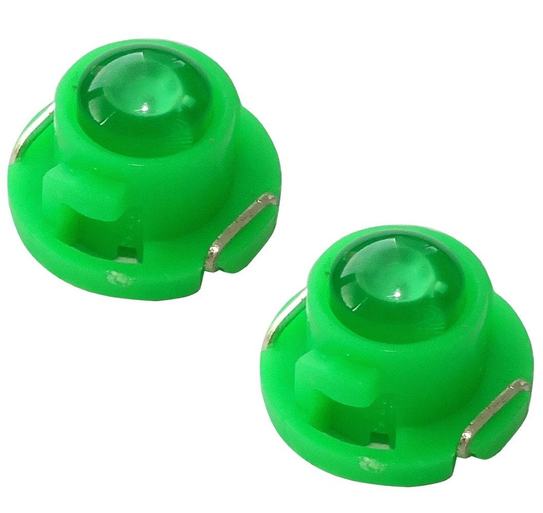AERZETIX: 2 x Bombillas T4.7 LED 12V luz color verde para salpicadero SK2-C13835-AC699