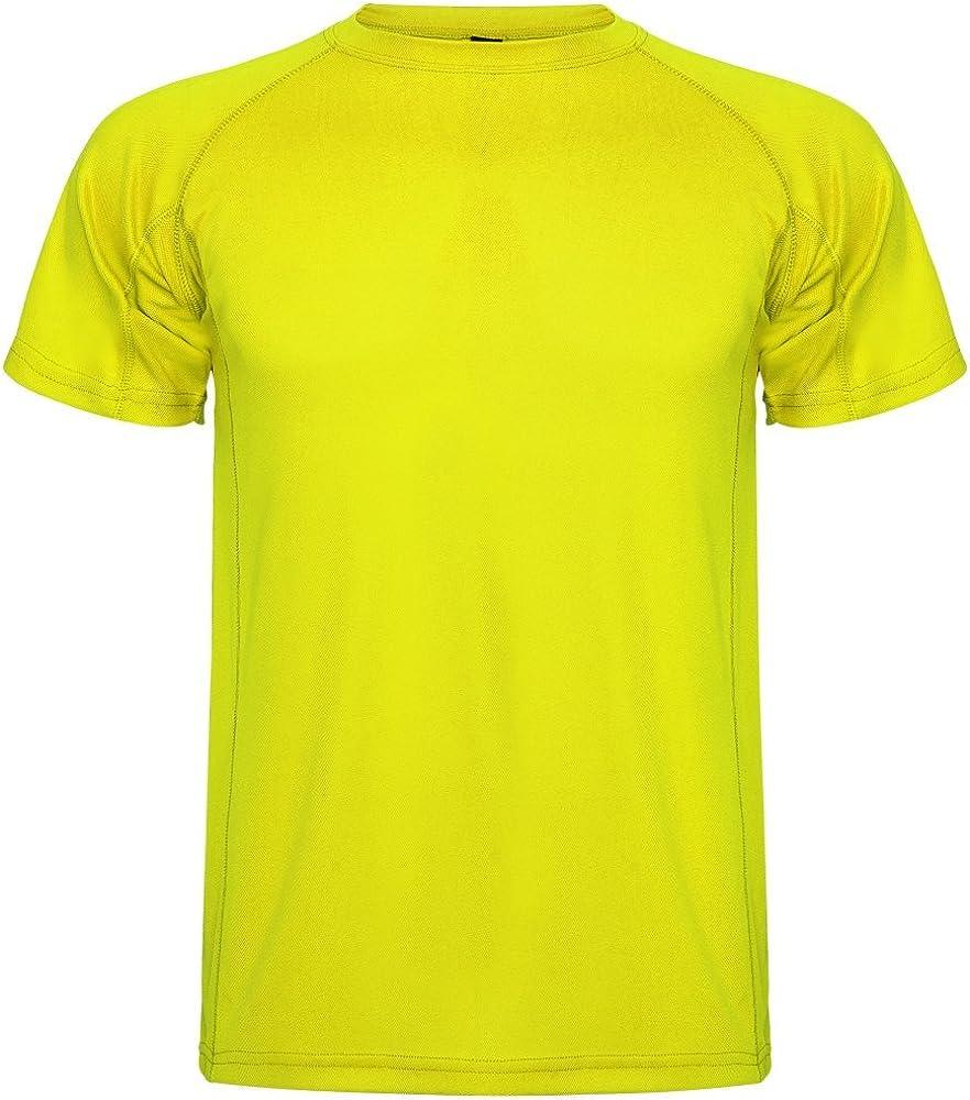 ROLY Camiseta técnica para Hombre Montecarlo, Amarillo ...