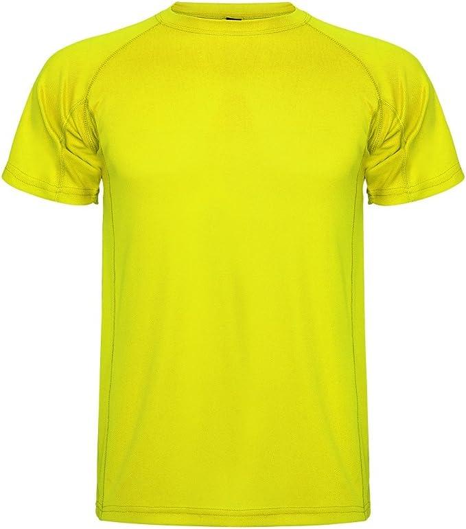 Roly Camiseta técnica para Hombre Montecarlo, Amarillo: Amazon.es ...