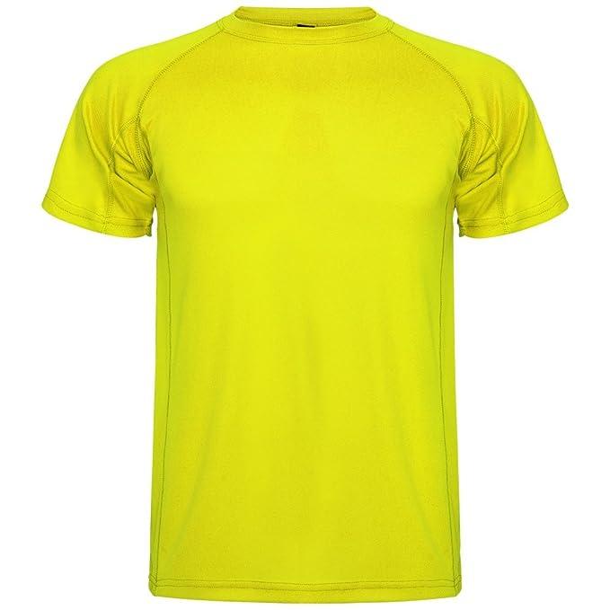 Roly Camiseta técnica para niños Montecarlo, Amarilla: Amazon.es: Ropa y accesorios