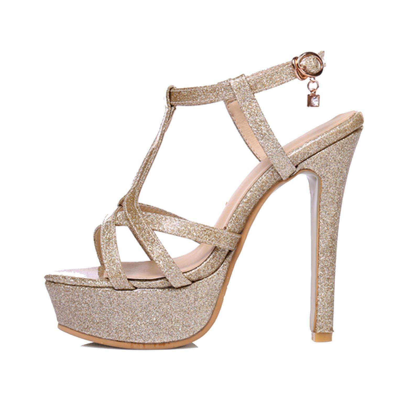 NFEJ TSHIRT Amazing-cool heeled-sandals Women Sandals 2017 New Summer Fashion Platform High Heel