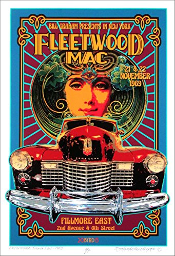Giclee Matte Art (Fleetwood Mac Tribute Poster New Original Artist Edition Hand Signed David Byrd Includes COA)
