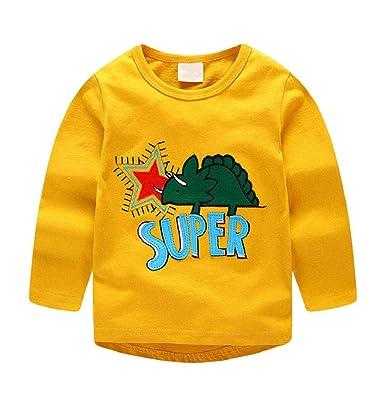 bf52c2584241 Taylorean Newborn Infant Baby Boys Cute Cartoon Animal Print Striped Soft  Tops T-Shirt Clothes