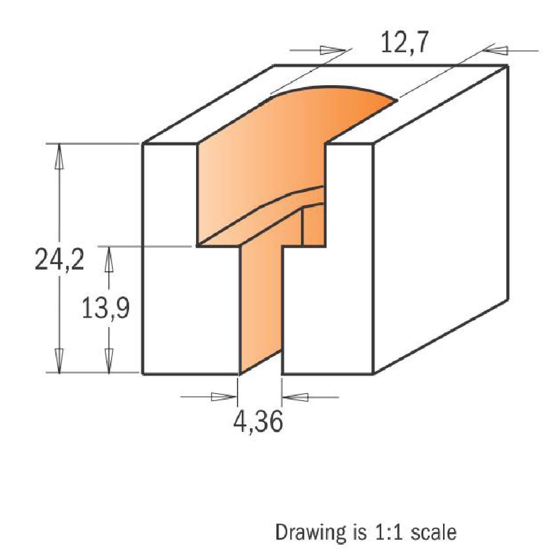 CMT Orange Tools 913,101,11 Fraise hw s Double diam/ètre 8 d 12,7//4,36
