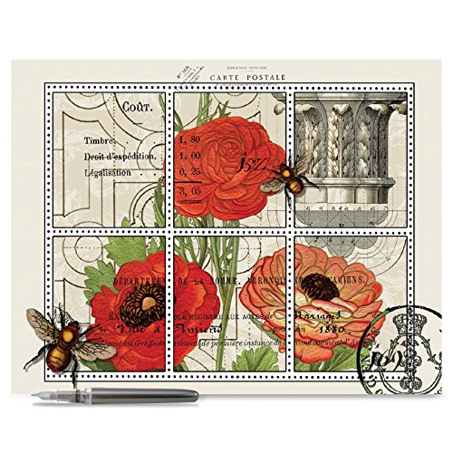 Jumbo Mother's Day Card: What's The Buzz Featuring Vintage Illustrations of Bees With Flowers,With Envelope (Extra Large Version: 8.5'' x 11'') (Jumbo Postage)