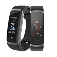 Fitness Tracker, Makibes HR3 Smartband IP67 Water Resistant Fitness Smart Wristband Heart Rate Monitor, Bluetooth Pedometer, Sleep Monitoring, Sedentary Reminder SMS SNS Push Compatiable with iOS and Android Smartphones