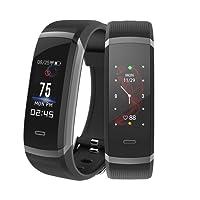 Fitness Armbänder mit Pulsmesser, Makibes IP67 Wasserdicht Fitness Tracker mit Schlafmonitor Kalorienzähler Vibrationsalarm Anruf SMS Whatsapp Kompatibel mit iPhone Android