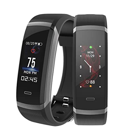 Makibes Fitness Tracker HR3, Activity Tracker IP67 Waterproof Smart Wristband with Heart Rate Monitor, Bluetooth Sport Pedometer fitness Smart Watch Step Tracker with Calorie Counter for Android iOS