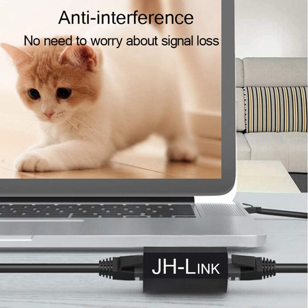 RJ45 Cat7//Cat6//Cat5 Cable LAN Connector Ethernet Female to Female Adapter 10 Pack,JH-Link Ethernet Coupler RJ45 Coupler