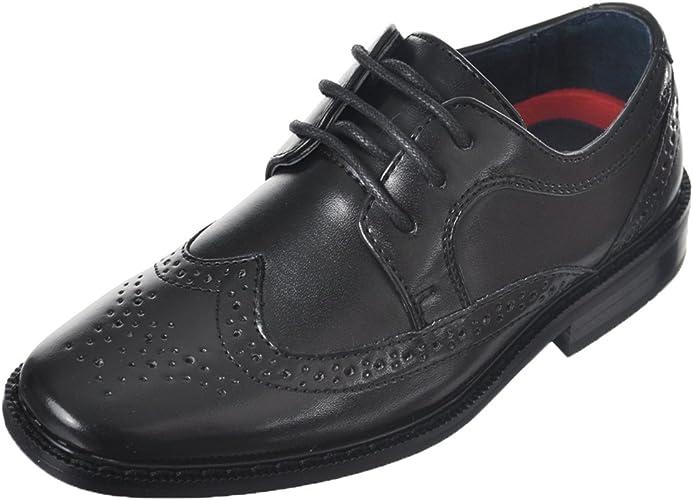 Joseph Allen Boys Worsted Wingtip Dress Shoes